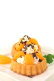 Mandarins pie Royalty Free Stock Photos