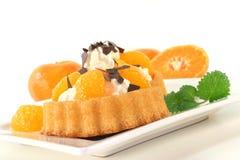 Mandarins pie Stock Image