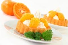 Mandarins pie Stock Photo