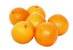Mandarins - pure white background Royalty Free Stock Image