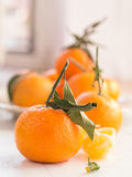 Mandarins with sheets Royalty Free Stock Photography