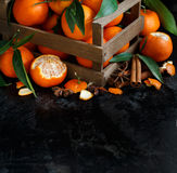 Mandarins and spices Royalty Free Stock Image