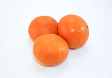 Mandarins are  on a white background Stock Images