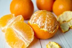 Mandaryn pomarańcze Zdjęcia Royalty Free