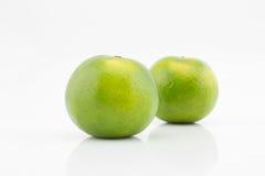 Mandaryn, Tangerine, Asia pomarańcze na białym tle Zdjęcia Royalty Free