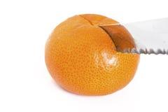 mandarynki rżnięta nożowa pomarańcze Obrazy Stock