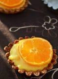 Mandarynu Francuski ciasto Zdjęcia Stock