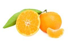 Mandaryny i mandarynka plasterki zdjęcie stock