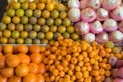 Mandaryny na rynku Fotografia Stock