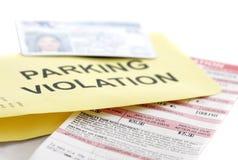 mandat za złe parkowanie Zdjęcie Royalty Free