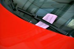 mandat za złe parkowanie Fotografia Stock