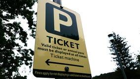 Mandat Za Złe Parkowanie znak Zdjęcie Stock