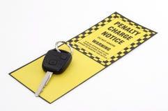 mandat za złe parkowanie Obraz Royalty Free