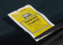 Mandat za złe parkowanie Obraz Stock