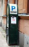 Mandat za złe parkowanie maszyna Zdjęcie Stock
