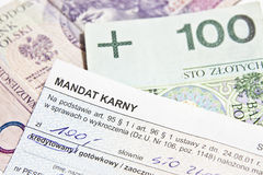 The mandate of the criminal. The mandate of the penalty in Poland Stock Image