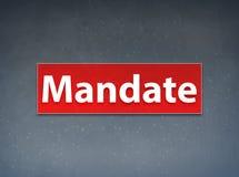 Mandate Red Banner Abstract Background. Mandate Isolated on Red Banner Abstract Background illustration Design stock illustration