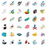 Mandatory business icons set, isometric style. Mandatory business icons set. Isometric set of 36 mandatory business vector icons for web isolated on white Stock Photo