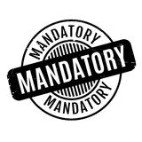 Mandatory rubber stamp Royalty Free Stock Photo