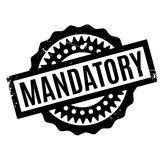 Mandatory rubber stamp Royalty Free Stock Photography