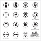 Mandatory Safety And Caution Sign Icons Set Royalty Free Stock Photo
