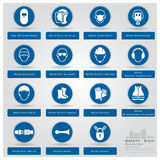 Mandatory Safety Sign Icons Set Royalty Free Stock Images