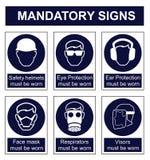 Mandatory Safety sign Stock Photo