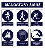 Mandatory Safety sign Stock Images