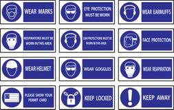 Mandatory  signs Stock Photos