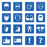 Mandatory signs, Construction health and safety,Vector. Mandatory signs, Construction health and safety sign used in industrial applications.Vector illustration Stock Photography