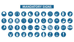 Mandatory signs Stock Images