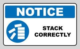 Mandatory Stack Correctly Sign Stock Photos