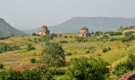 Mandav Landscape with Ancient Architecture Stock Photography