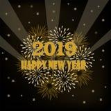 Mande un SMS con el color para el día de fiesta de una Feliz Año Nuevo 2019 Foto de archivo