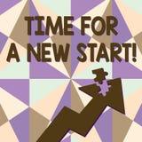 Mande un SMS a la muestra que muestra la hora para un nuevo comienzo La foto conceptual algo se supone para comenzar ahora el tra libre illustration