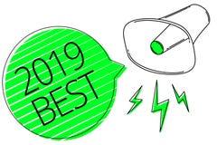 Mande un SMS a la muestra que muestra 2019 mejores la más de alta calidad conceptuales de la foto hecha en todos los campos que s ilustración del vector
