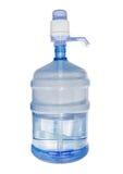 Mandefles met drinkwater en handpomp Royalty-vrije Stock Afbeeldingen