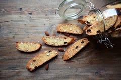 Mandel biscotti Stockfoto