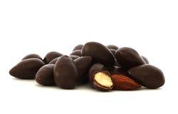 Mandel in der Schokolade Stockbilder