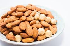 Mandel-Erdnuss und Haselnüsse Lizenzfreie Stockfotografie
