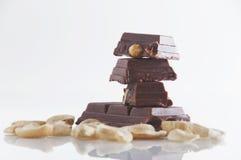 Mandel-Schokolade Lizenzfreies Stockfoto