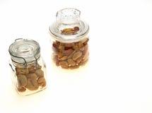 Mandel und Acajounüsse in einem Glas Lizenzfreie Stockfotografie