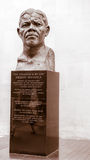 Mandela bust in London,  Royal Festival Hall. Image was taken on August 2013 Stock Image