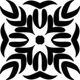 Mandela design med svart design blom- ilustrationen som ?r svart rotar stock illustrationer