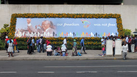 Mandela Memorial Poster Royalty Free Stock Photos