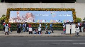 Mandela pomnika plakat Zdjęcia Royalty Free