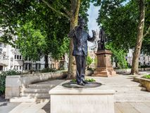 Mandela statue in London, hdr. LONDON, UK - CIRCA JUNE 2017: Nelson Mandela monument in Parliament Square, high dynamic range Royalty Free Stock Photo
