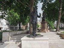 Mandela statue in London Stock Photos