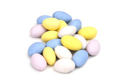 mandelar coated socker Arkivfoto