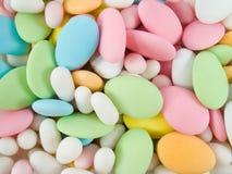 mandelar räknat socker Royaltyfria Bilder